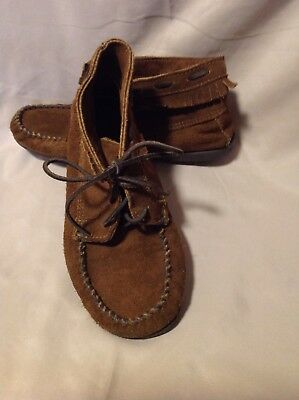 Pre owned  Native American Women Minnetonka Shoes Brown Leather Size 7  Shoes