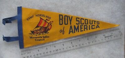 Boy Scout Camp Norseland Minnesota Valley Council Pennant