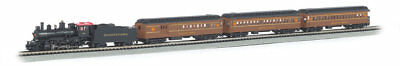 "Bachmann-The Broadway Limited -- 4-6-0 Loco, 3 60' Heavyweight Cars, 34 x 24"" Tr"