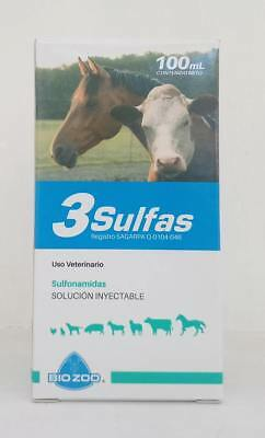 3 SULFAS 100ML - antibiotic, antiparasitic and coccidiostat in ONE INJECTION