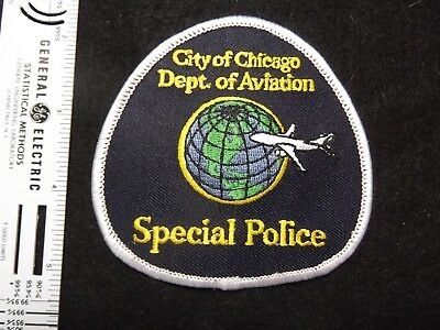 Illinois Chicago Dept Aviation Special Police OHare Midway Airport vintage defun
