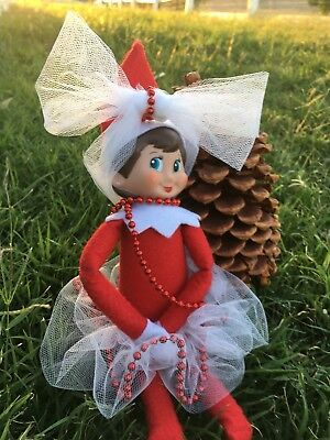 Elf on the Shelf Tutu with red beads. Headband and extra beads for necklace etc