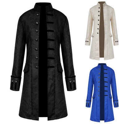 Fashion Mens Steampunk Long Sleeve Gothic Long Jacket Coat Outwear Winter Trench
