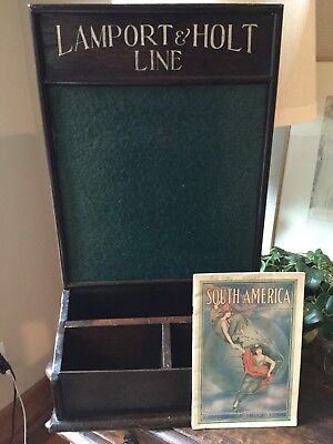 Early 1900s Lamport & Holt Line - Brochure Counter Display (with Brochure)