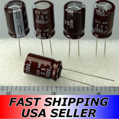 2-5pcs 1000uF 25V Nippon Chemi-Con KME Series 105C Capacitors Fast USA Shipping