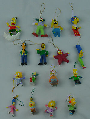 16 Christmas Ornaments of The Simpsons Homer Marge Bart Lisa Maggie Nelson Apu