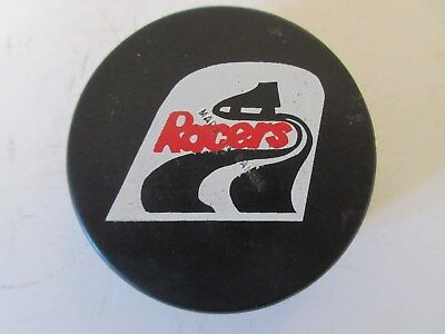 """Indianapolis Racers WHA Screened Game Puck """" Made In Canada """""""