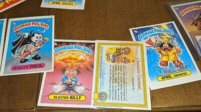 1986 Garbage Pail Kids 1St Series Gum Stack Pack Fresh Sharp Corners Os1