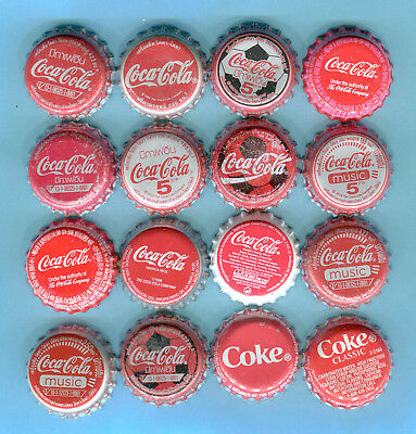 16-LOT of COCA COLA SODA BOTTLE CAPS from THAILAND