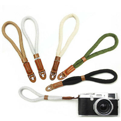 Cotton Wrist Camera Strap Belt for Camera Leica Canon Fuji Nikon Pentax Sony