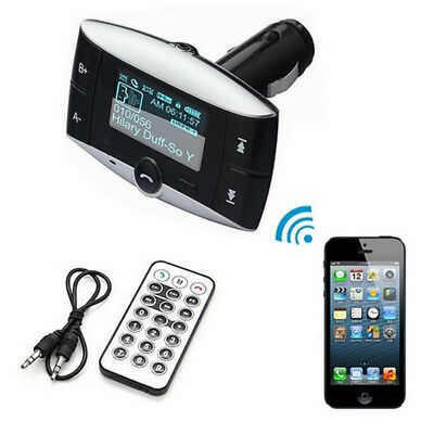 Car Kit FM Audio Transmitter Bluetooth Modulator MP3 Player USB Charger SD Slot