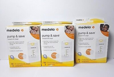 Medela Pump and Save Breast Milk Bags 5oz/150 mL - 70 Count
