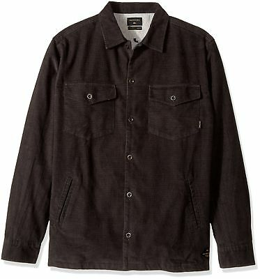 Quiksilver NEW Black Mens Size Small S Button-Front Shirt Jacket $89 073