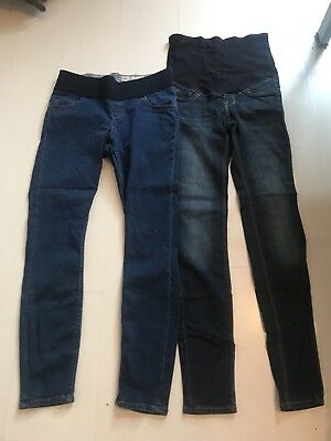 Two Pairs Skinny Maternity Jeans Size 8