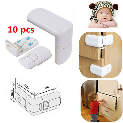 10PCS Door Fridge Cabinet Drawer Cupboard Locks for Baby Safety Child Proofing