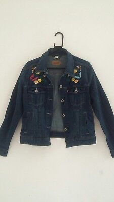 vintage embroidered levi jacket