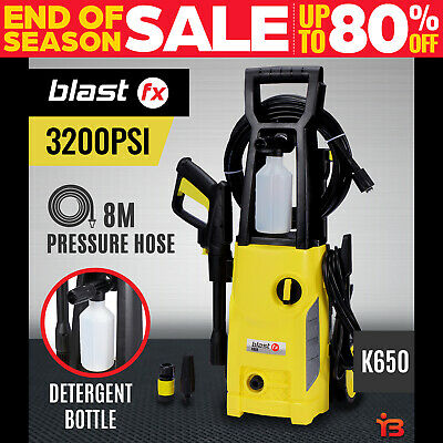BLASTFX 3200 PSI High Pressure Washer Electric Water Cleaner Gurney Pump 8M Hose