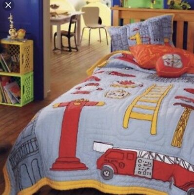 The Land Of Nod Boys Bedding Fireman Themed Bedding Twin Quilt