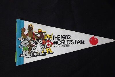 "VTG 1982 World's Fair Knoxville, Tennessee Miniature 8.5"" Pencil Felt Pendant"