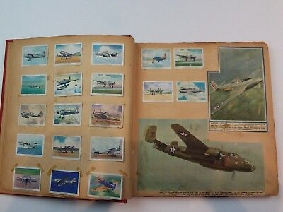 Great WW2 Scrapbook Aviation, Fighter, Bomber Planes T87 Wings Cigarette Cards