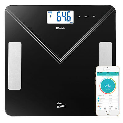 New 400lb Bluetooth Body Fat Weight Scale Electronic LCD Fitness Analyzer APP