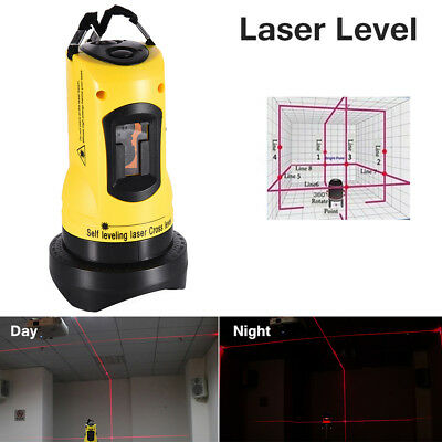 Automatic Laser Level Self-leveling Cross Laser Red 2 Line1 Point Without Tripod