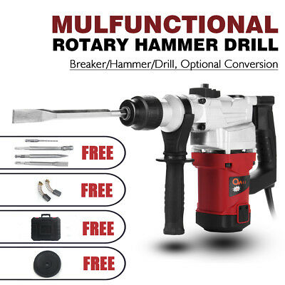1850W Demolition Rotary Jack Hammer Jackhammer 4 in1 Electric Concrete Drill AU