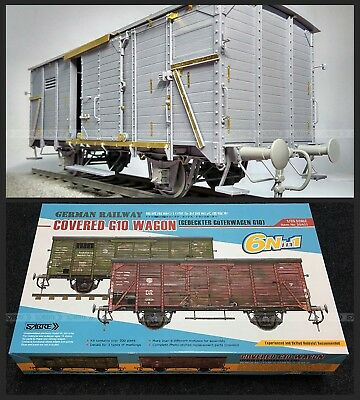 SabreModel 1/35 RAILWAY COVERED G10 WAGON (6Nin1) w/Pro PE Parts # 35A01