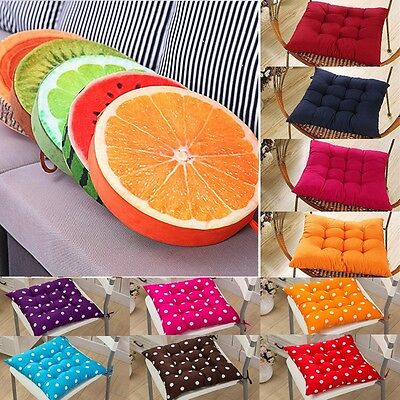 Tie On Soft Chair Cushions Seat Pads Pillow Garden Dining Room Sofa Home Decor