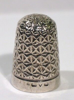 Antique Hallmarked Chester Silver Thimble.