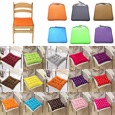 Seat Pad Dining Room Garden Kitchen Home Office Patio Chair Cushions with Tie On