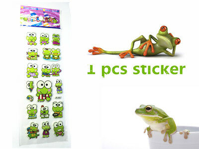 1PCS PVC Frog Stickers Teacher Reward Kid Party Toy Gifts Handmade New Hot 2018
