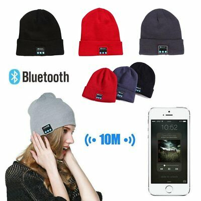 Soft Warm Beanie Hat Bluetooth Smart Cap Wireless Headset Headphone Speaker Mic