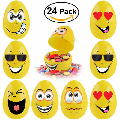 24pcs Plastic Easter Eggs Mini Toys for Kid Holiday Pack DIY Party Home Wedding