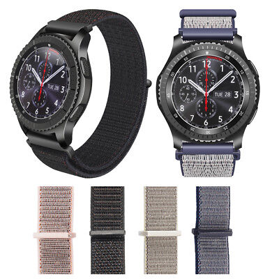 Quick Release Nylon Strap Band Wristband Bracelet 22mm for Samsung Gear S3 Watch