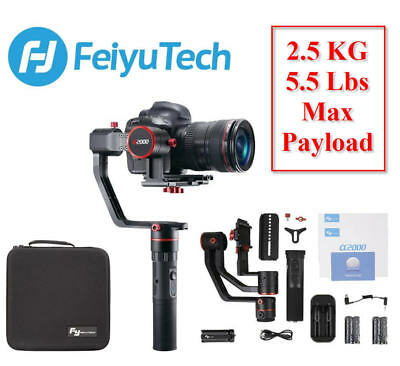 Feiyu Tech a2000 3-Axis Gimbal Handheld Stabilizer for DSLR Cameras Dual Grip GD