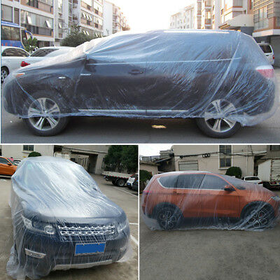 Disposable Clear PE   Universal For SUV Car Cover Rain Dust Snow Garage