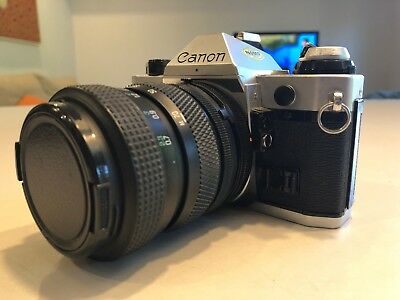 Canon AE-1 35mm Film Camera with Tamron 28-70 zoom
