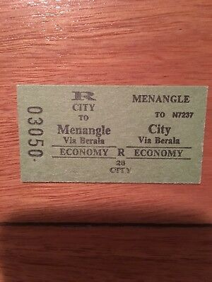 NSW Railway Ticket - Menangle