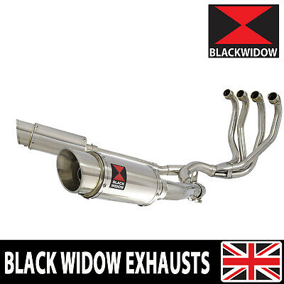 Zzr 1100 Zx-11 Zx11 4-2 Exhaust System Round Stainless Silencers Mufflers 200Ss