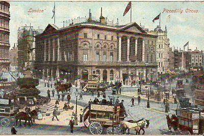 Cpa Angleterre 1907 - Londres, Piccadilly Circus  -