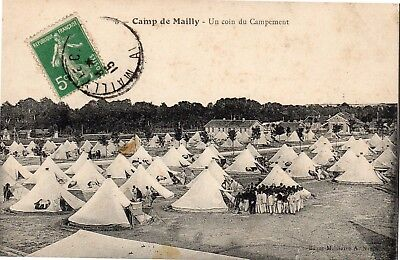 Cpa France 1915 - Camp Militaire De Mailly, Une Vue Du Campement -