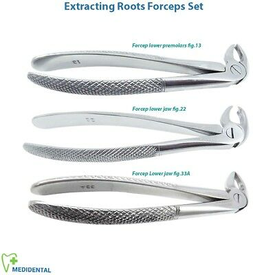 Dental Extracting Forceps Surgical Tooth Extractions Serrated anterior Root Tip