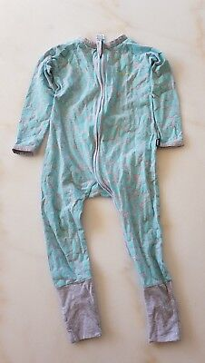 Bonds Pre owned wondersuit zippy size 2 grey and light blue print
