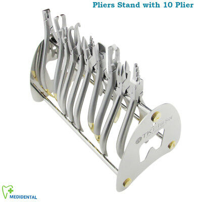 Orthodontics Ligature Hard wire Bird Beak Adams Plier Distal Cutter Pliers Stand