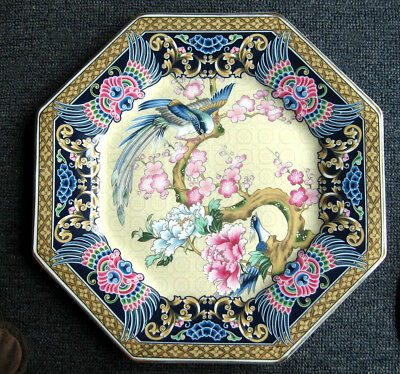 Chinese Quality porcelain plate with birds on a branch 10.1/2 inches diameter