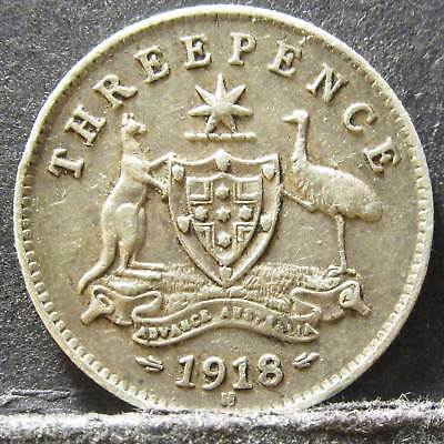 1918 Australia 3d Threepence ** ERROR ROTATED ** #pw1807-32