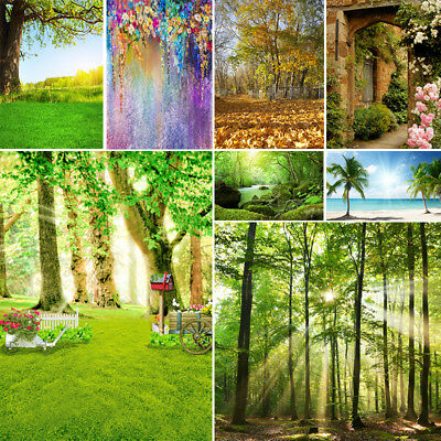 Vinyl Studio Backdrop Photography Fairy Tale Forest Photo Background Green 10*10