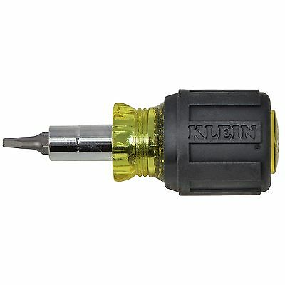 Klein Tools 32562 Stubby Multi-Bit Screwdriver/Nut Driver with Square Recess Bit