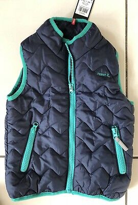 Navy Quilted Gilet Body Warmer by NAME IT. 18-24 months. NEW BNWT